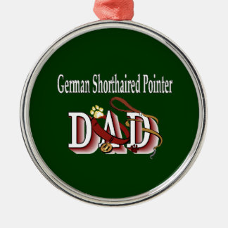 German Shorthaired Pointer Dad Metal Ornament