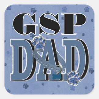 German Shorthaired Pointer DAD Square Sticker