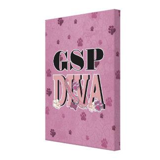 German Shorthaired Pointer DIVA Canvas Print