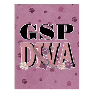 German Shorthaired Pointer DIVA Postcard