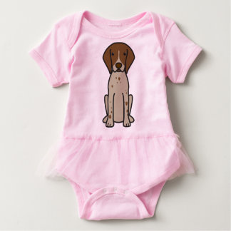 German Shorthaired Pointer Dog Cartoon Baby Bodysuit