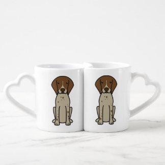 German Shorthaired Pointer Dog Cartoon Lovers Mug