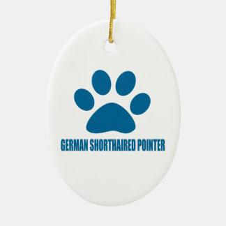 GERMAN SHORTHAIRED POINTER DOG DESIGNS CERAMIC ORNAMENT