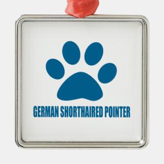 GERMAN SHORTHAIRED POINTER DOG DESIGNS METAL ORNAMENT