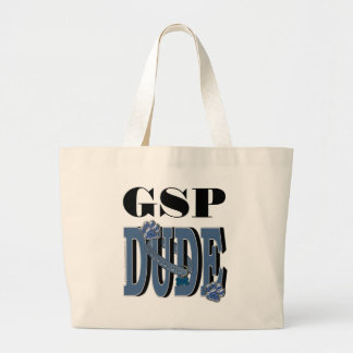 German Shorthaired Pointer DUDE Large Tote Bag