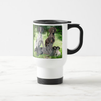 German Shorthaired Pointer Family Travel Mug