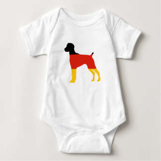 german shorthaired pointer flag silo germany-flag. baby bodysuit