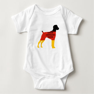 german shorthaired pointer flag silo name germany- baby bodysuit