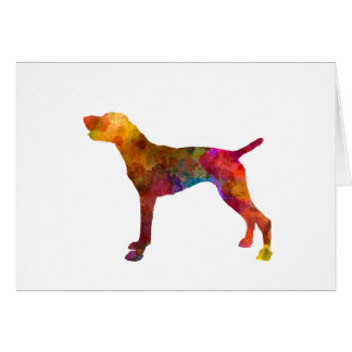 German Shorthaired Pointer in watercolor Card