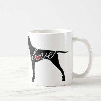 German Shorthaired Pointer Love Basic White Mug