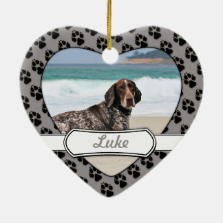 German Shorthaired Pointer - Luke - Riley Ceramic Heart Decoration