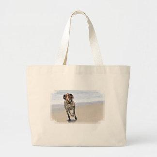 German Shorthaired Pointer - Luke - Riley Large Tote Bag