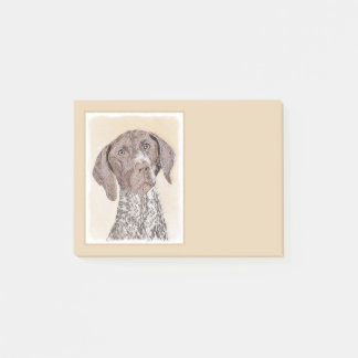 German Shorthaired Pointer Painting - Dog Art Post-it Notes