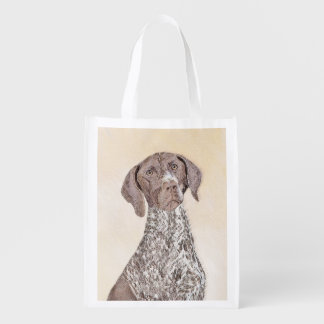 German Shorthaired Pointer Painting - Dog Art Reusable Grocery Bag