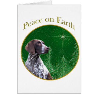 German Shorthaired Pointer Peace Card