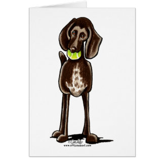 German Shorthaired Pointer Playtime Greeting Card