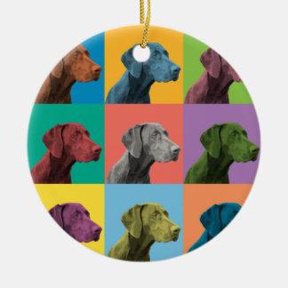 German Shorthaired Pointer Pop-Art Ornament