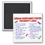 GERMAN SHORTHAIRED POINTER Property Laws 2 Magnets