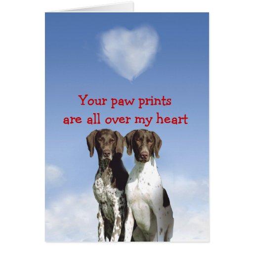 German Shorthaired Pointer Puppy Love Card