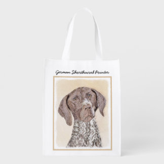 German Shorthaired Pointer Reusable Grocery Bag