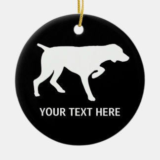 German Shorthaired Pointer silhouette Ceramic Ornament