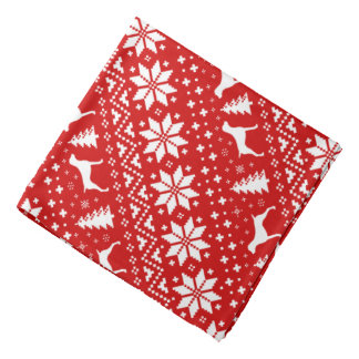 German Shorthaired Pointer Silhouettes Christmas Bandana