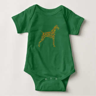 German Shorthaired Pointer Typography Baby Bodysuit