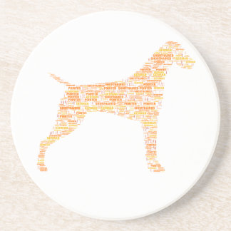 German Shorthaired Pointer Typography Coaster