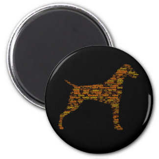 German Shorthaired Pointer Typography Magnet