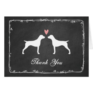 German Shorthaired Pointer Wedding Thank You Card