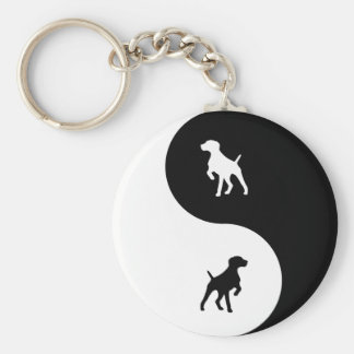 German Shorthaired Pointer Yin Yang Key Ring