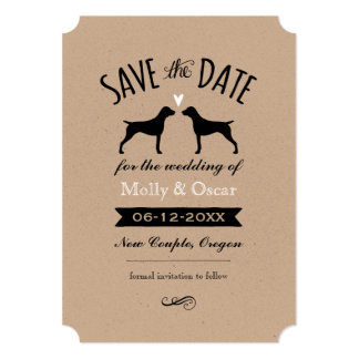 German Shorthaired Pointers Wedding Save the Date Card