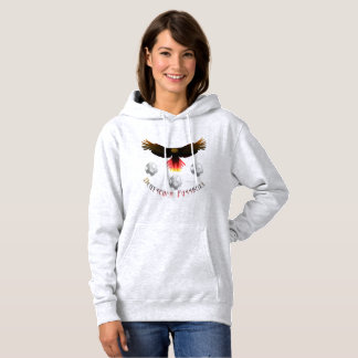 German Soccer Eagle Ladies Hoodie