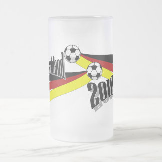 german soccer frosted glass beer mug