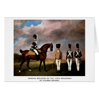 German Soldiers Of The 10Th Dragoons Greeting Cards