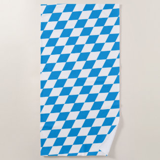GERMAN State Of Bavaria Flag Colors Beach Towel
