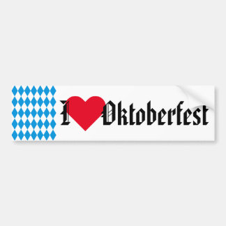 GERMAN STATE OF BAVARIA Flag Colors pattern Bumper Sticker
