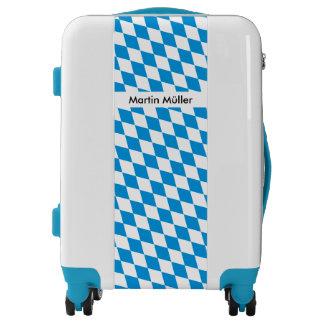 GERMAN STATE OF BAVARIA Flag Colors pattern Luggage