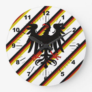 German stripes flag large clock