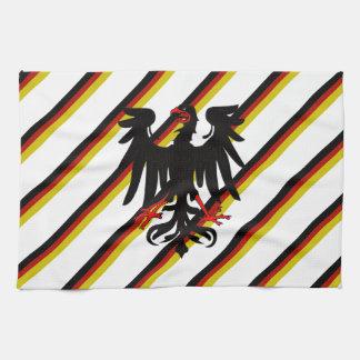 German stripes flag tea towel