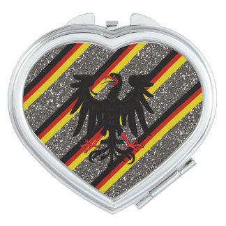 German stripes flag travel mirror