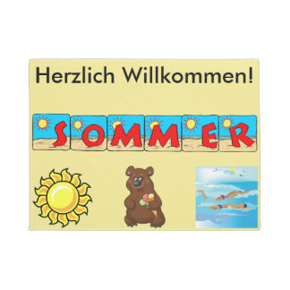 German Summer Welcome Mat