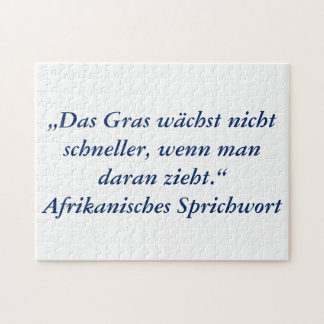 German Text - Humor Jigsaw Puzzle