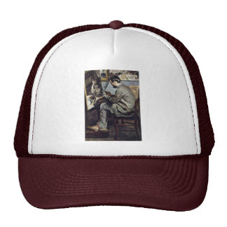 German:, The Bazille Painting In The Studio Mesh Hats