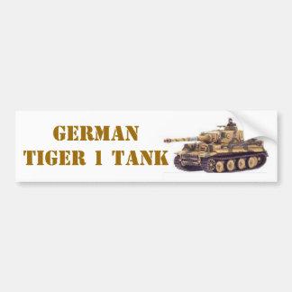 GERMAN TIGER 1 TANK BUMPER STICKER