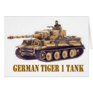 GERMAN TIGER 1 TANK GREETING CARD