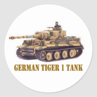 GERMAN TIGER 1 TANK ROUND STICKER