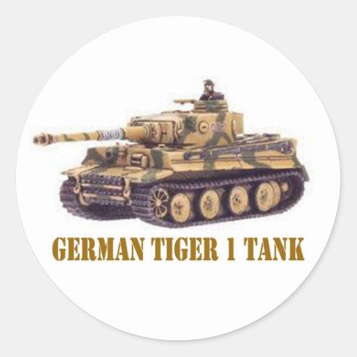 GERMAN TIGER 1 TANK ROUND STICKER