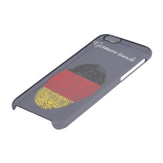 German touch fingerprint flag clear iPhone 6/6S case