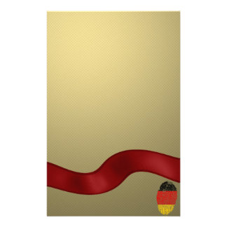 German touch fingerprint flag personalised stationery
